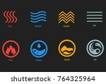 raster illustration of four... | Shutterstock . vector #764325964