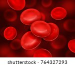 vector realistic blood cells... | Shutterstock .eps vector #764327293