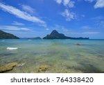 seascape of coron island ... | Shutterstock . vector #764338420