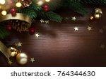 christmas holidays ornament... | Shutterstock . vector #764344630