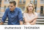 girlfriend and boyfriend...   Shutterstock . vector #764346064