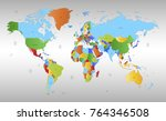 color world map vector | Shutterstock .eps vector #764346508