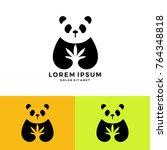 panda cannabis medical logo... | Shutterstock .eps vector #764348818