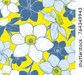 seamless pattern with flowers... | Shutterstock .eps vector #764349943