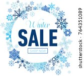 Winter Sale Card With Blue...