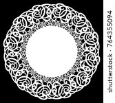lace round paper doily  lacy... | Shutterstock .eps vector #764355094