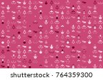 christmas pattern with... | Shutterstock .eps vector #764359300