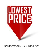 banner lowest price   Shutterstock .eps vector #764361724