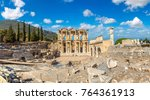 ruins of celsius library in... | Shutterstock . vector #764361913