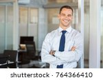 portrait of cheerful... | Shutterstock . vector #764366410