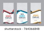 vector vertical white  banners... | Shutterstock .eps vector #764366848