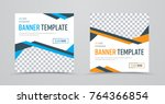 template of square banners with ...   Shutterstock .eps vector #764366854