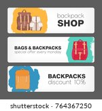collection of horizontal... | Shutterstock .eps vector #764367250