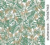 elegant botanical seamless... | Shutterstock .eps vector #764367463