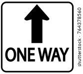 one way sign   Shutterstock .eps vector #764378560
