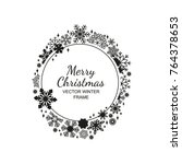 black and white circle...   Shutterstock .eps vector #764378653