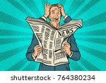 businessman shocked by bad news ... | Shutterstock . vector #764380234