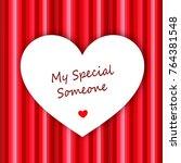 white heart on red background   Shutterstock . vector #764381548