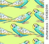 seamless pattern yellow face... | Shutterstock .eps vector #764382544