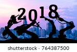 2018 years of ai technology  ... | Shutterstock . vector #764387500