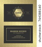 luxury business card and golden ... | Shutterstock .eps vector #764388160