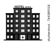 hotel  hotel icon  three star... | Shutterstock .eps vector #764389318
