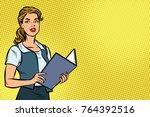 female secretary. business... | Shutterstock . vector #764392516