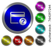 unknown credit card icons on... | Shutterstock .eps vector #764397244