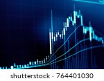 charts of financial instruments ... | Shutterstock . vector #764401030
