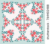 scarf floral print. russian...   Shutterstock .eps vector #764402488