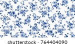 seamless floral pattern in... | Shutterstock .eps vector #764404090