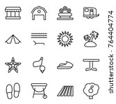thin line icon set   market ... | Shutterstock .eps vector #764404774
