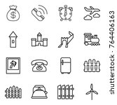 thin line icon set   money bag  ...