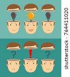 leadership concept. set. of... | Shutterstock .eps vector #764411020