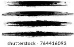 grunge paint stripe . vector... | Shutterstock .eps vector #764416093