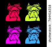 french bulldog. vector...   Shutterstock .eps vector #764416318