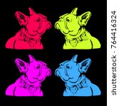 french bulldog. vector... | Shutterstock .eps vector #764416324