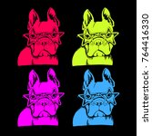 french bulldog. vector... | Shutterstock .eps vector #764416330