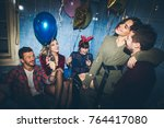 new year's party. birthday... | Shutterstock . vector #764417080