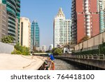 residential areas and...   Shutterstock . vector #764418100