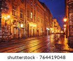 mysterious narrow alley with...   Shutterstock . vector #764419048