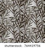 vector black decorative... | Shutterstock .eps vector #764419756