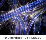 shanghai china freeway long... | Shutterstock . vector #764420110