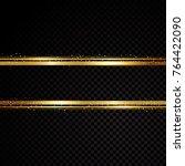 vector golden line banner.... | Shutterstock .eps vector #764422090