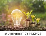 energy saving light bulb and... | Shutterstock . vector #764422429