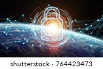 cyber security  and connections ... | Shutterstock . vector #764423473