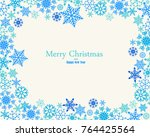 vintage blue and turquoise... | Shutterstock .eps vector #764425564