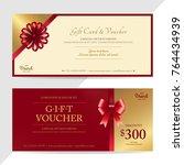 gift certificate  voucher  gift ... | Shutterstock .eps vector #764434939