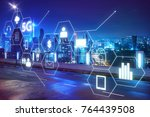 5g network wireless systems and ... | Shutterstock . vector #764439508