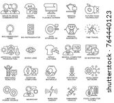 icons of future technologies.... | Shutterstock .eps vector #764440123